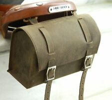 Leather Bicycle Saddle old vintage Style box Bag type Utility Tool Carry kit