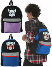 NEW TRANSFORMERS Autobots vs Decepticons REVERSIBLE Backpack School Book Bag