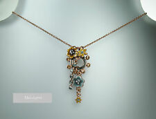 PILGRIM Necklace ENCHANTED FLOWER Copper Grey Swarovski Enamel BNWT RARE
