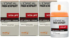 3 x 50ml LOreal Men Expert Vita Lift Daily Moisturiser - Anti-Wrinkle & Firming