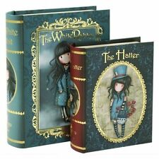 Gorjuss by Santoro Set of 2 Book Boxes - The Chronicles - White Rabbit - Hatter