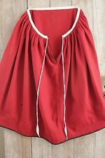 Antique red wool jupon petticoat skirt c 1880 woman's clothing textile old