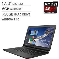 New HP 17z-p100 17.3 inch Laptop AMD Dual Core A8-7050 6GB RAM 750GB HDD HDMI