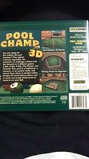 New GameSoft Pool Champ 3D PC Video Game (2007) Windows VISTA/XP/98SE  DN5-4279