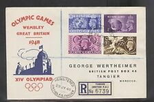 Great Britain UK 1948 Offices In Morocco Olympic Games Registered FDC (2)