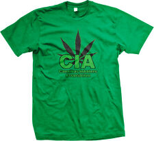 CIA Canabis Inhalers Association Weed 420 Pot High Funny Mens T-shirt