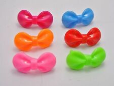 25 Mixed Colour Plastic Bows Bowknot Alligator Hair Clips Barrettes 36mm
