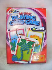 NEW MY FIRST PLAYING CARDS GAME ANIMALS GIANT CARD COLOURFUL KIDS GAMES GRAFIX