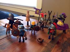 Vintage Playmobil Medieval Knights Castle Horses Weapons Geobra 1974 Lot