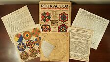 Vintage ROTRACTOR - ELEVEN INSTRUMENTS in ONE - Board, Designs & Instructions