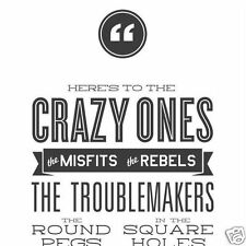 "Steve Jobs - ""Here's to the Crazy Ones"" Think Different 12""x36"" Poster"