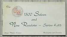 SINGER SM 1500 Saloon & NINE ROADSTER SERIES 4AB Car Sales Brochure c1952