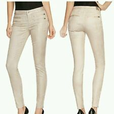 GUESS 8-Zip Colored Skinny Jeans in District Taupe SIZE 24