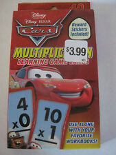 1Disney Cars Multiplication Flash Learning Cards Game Reward Stickers Included