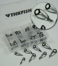 New!40 Pcs 8 Size 1.8-3.0mm THKFISH Saltwater Casting Fishing Rod Tip Tops Parts