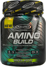Muscletech Amino Build Green Apple  - BCAA Post-Workout Powder (50 Servings)