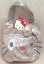 Sanrio Hello Kitty Silver sequin handbag purse tote, NWT