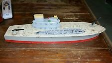 VINTAGE WOODEN KEYSTONE U.S. AIRCRAFT CARRIER C-12 toy ship 1940's