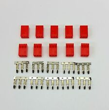 PK OF 10 - FEMALE 3 PIN FAN POWER CONNECTOR - RED INC PINS