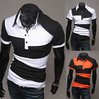 Fashion Men's Slim Fit Casual Polo Shirt T-Shirt Short Sleeve Tee Tops M-XXL