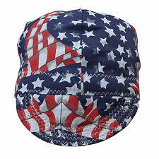 Fashion Style Colorful Flag Welding Caps with Cotton mesh lining for Welders
