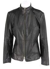 Women's CLASSIQUES ENTIER Black Leather Zip Up Jacket Size S