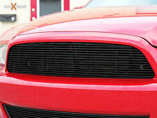 GenXTrims 2013 2014 Ford Mustang Gloss Black Upper Billet Grille Replacement