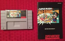Super Mario All Stars (SNES) Professionally Cleaned, + Orig. Manual, Near Mint!