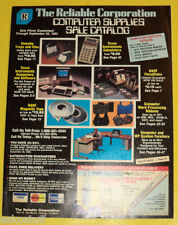 Reliable Corporation Fall 1983 Store & Office Supplies Catalog Nice Pictures!