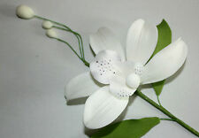 Orchid Spray, Sugar Flower, White Bosky Orchid, Cake Topper, Gum, Sugarpaste