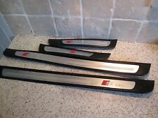AUDI A4 B8 5 DOOR SCUFF SILLS STEP PANEL FOOT PLATES SET OF 4 FREE POST S LINE