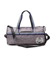 New Victoria's Secret PINK Weekender Duffle Gym Bag Double Strap Mark Gray Blue