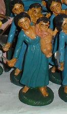 Pastori in plastica cm 10, 1 pastore donna con bambino presepe shepherds