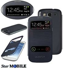 SAMSUNG GALAXY S3 i9300-i9305 S-VIEW FLIP COVER COQUE CASE ETUIS HOUSSE NOIR