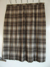 New Classics Compliments Size 26 Check Pleat Skirt Beige Mix