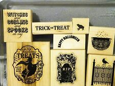 Stampin Up TOXIC TREATS wood mount stamps Halloween Witch Graveyard toad