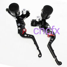 CNC Front 125-600cc Brake Clutch Hydraulic Master Cylinder Levers Black