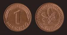 GERMANIA GERMANY 1 PFENNIG 1987 F
