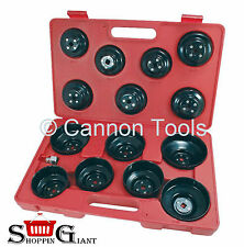"16pc Cap Type Oil Filter Wrench Removal Puller Set Tool Kit Adaptor 3/8"" CT1224"