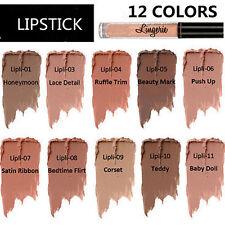 New NYX Lip 12 Shades Lingerie Matte Liquid Lipstick Waterproof Lip Gloss Makeup