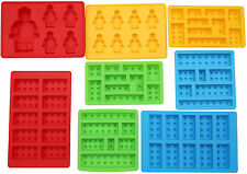 Candy Mold Silicone Lego Chocolate Ice Cube 8 Piece Set Tray Brick Soap Cake New