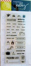 Clearly Kelly Travel Planner Hero Arts Clear Acrylic Stamp Set CL918 NEW!