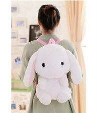 White Cute Bunny Kawaii Lolita Rabbit Plush Doll Kid's Backpack Shoulder Bag