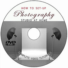 LEARN HOW TO SET-UP DIGITAL PHOTOGRAPHY STUDIO AT HOME TRAINING TUTORIALS ON DVD