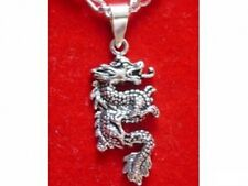 WOW Sterling silver 925 Fierce Chinese Dragon Pendant Charm