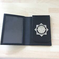 Hand crafted ID Card holder With Enforcement Officer Badge