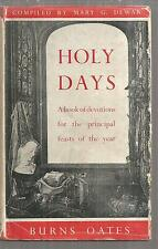 holy days book of devotions for principle feasts of the year Mary Dewar HC 1948