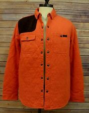 Mens Polo Ralph Lauren Quilted Jersey Oktoberfest Orange Shirt Jacket L GJ008