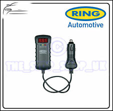 Ring 12v-24v Dual Voltage Battery Tester with DC plug & LED indicators RBA3
