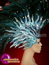 CHARISMATICO Blue ravishing striking diva drag Mohawk headdress